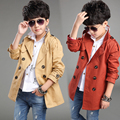 2016 Spring new boy sport leisure coat  children's trench  child Korean version of the long coat for 12-13 age boys   kids