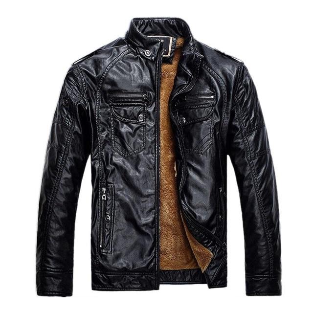 Brand New Men Leather Jackets Pu Leather Jaqueta Masculinas Inverno Couro Coat Men Jaquetas De Couro Men's Winter Leather Jacket