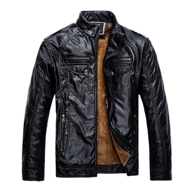 Brand New Men Leather Jackets Pu Leather Jaqueta Masculinas Inverno Couro Coat Men Jaquetas De Couro Men's Winter Leather Jacket