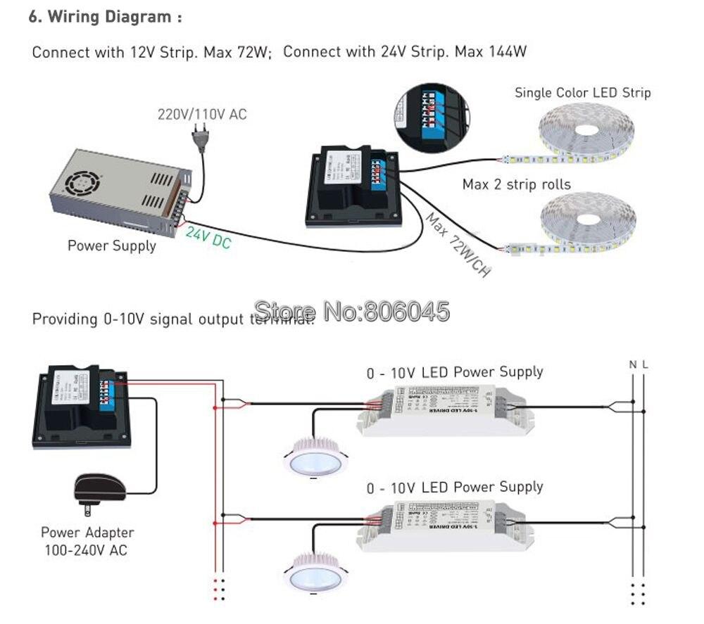 Ltech D61 Dimming Knob Panel Led Dimmer Controller Dc12v 24v Wiring Diagram Getsubject Aeproductgetsubject