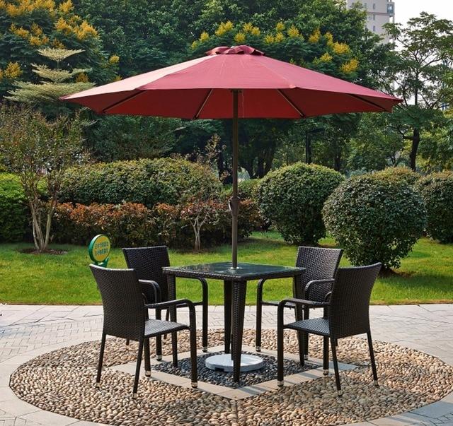 courtyard garden chairs leisure outdoor sun umbrellas patio