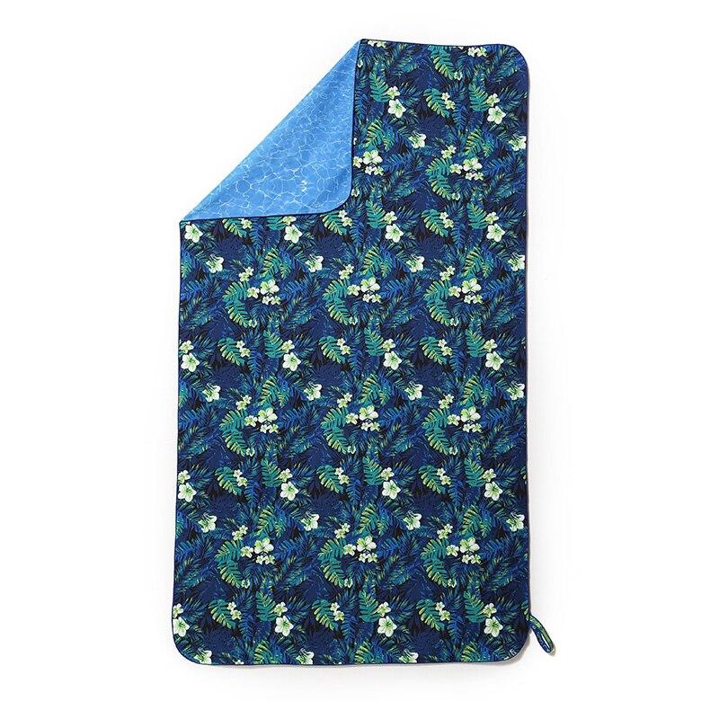 Natation séchage rapide serviette de plage absorbant l'eau imprimé serviette absorbant Sport voyage grande serviette de plage 147x83 cm microfibre B6T