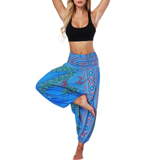 Ladies Boho Harem Pants Earth Colors 5