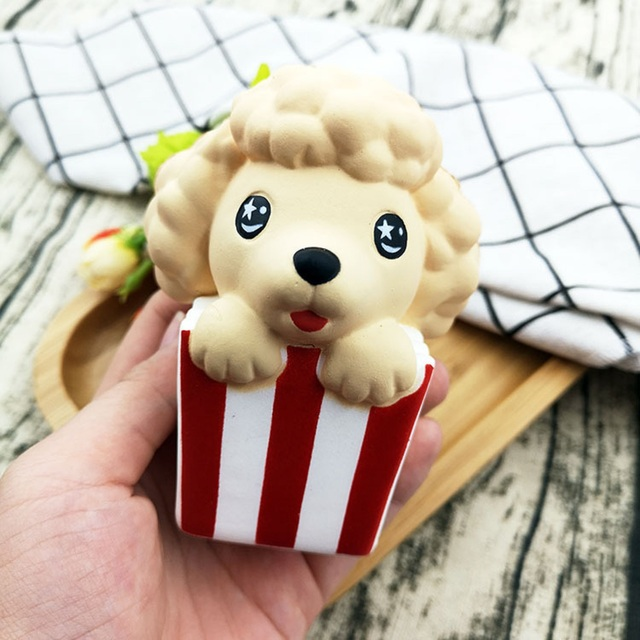 Besegad Bonito Kawaii Squishy Macio Cão Poodle Animais Squeeze Brinquedo Squishi Lento Subindo para Adultos Dos Miúdos Alivia O Estresse Ansiedade