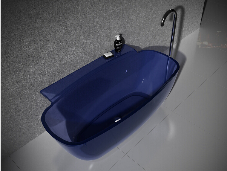 1580x820x600mm RESIN ACRYLIC RECTANGULAR COLORED TUBSTONE SOLID SURFACE  STONE FREESTANDING BATHTUB 6576 1000(China