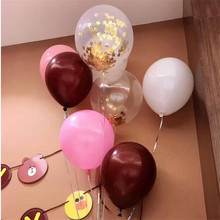 12inch 2.8g 50pcs Balloon  girl baby birthday decorating family gathering picture props pink rose latex balloon Birthday Party