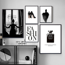 NOOG Fashion Girl Perfume Brand Wall Art Canvas Painting Nordic Posters And Prints Decoration Pictures Living Room Salon