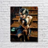 Hot Sexy India Girl Oil Painting Living Room Wall Picture Large Canvas Paintings Cheap Modern Canvas Art No framed