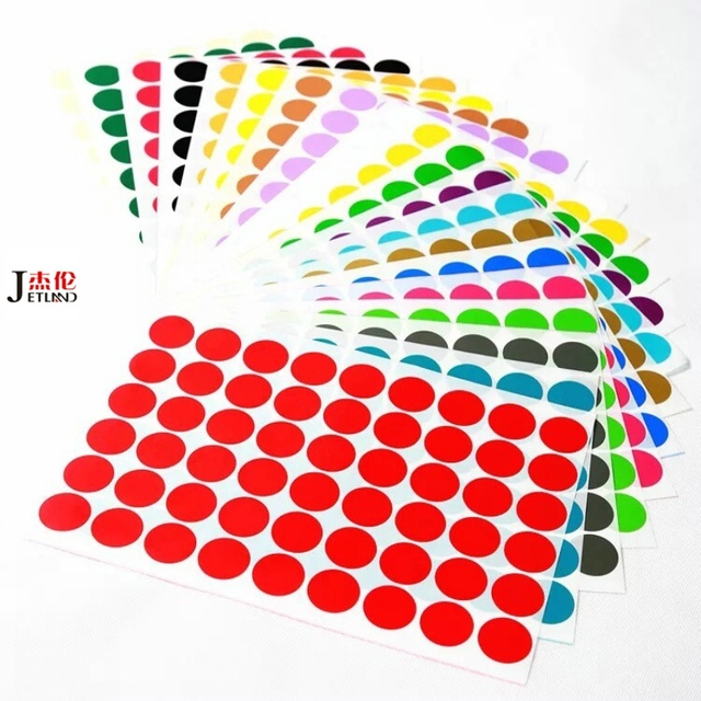 A4 mix color hojas de etiquetas pegatinas redondas 1 cm 2 cm 2,5 cm ...