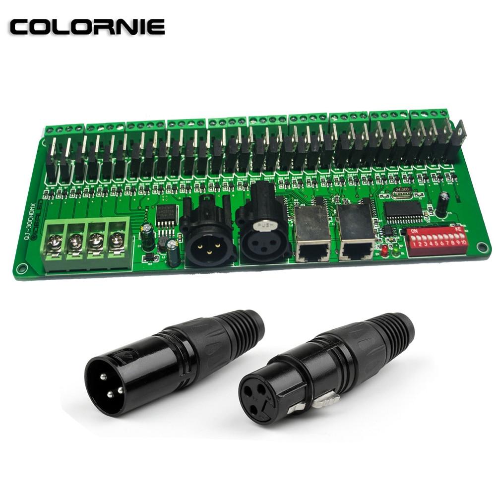30 Channels DMX Decoder RGB LED Strip Light RGB Controler DC9V- 24V DMX Controller For LED Strip Light Rigid Bar 2pcs hml rgb light strip