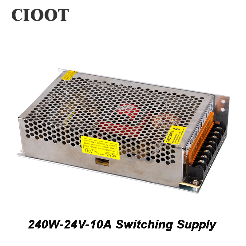 Free Shipping 10A 240W 24V Switching Power Supply Single Phase DC 24V Power Supply For Electronics Led Strip Display [sku 150] precision machining lathe single v pom v slot wheel delrin makerslide for your building 50pcs per bag free shipping