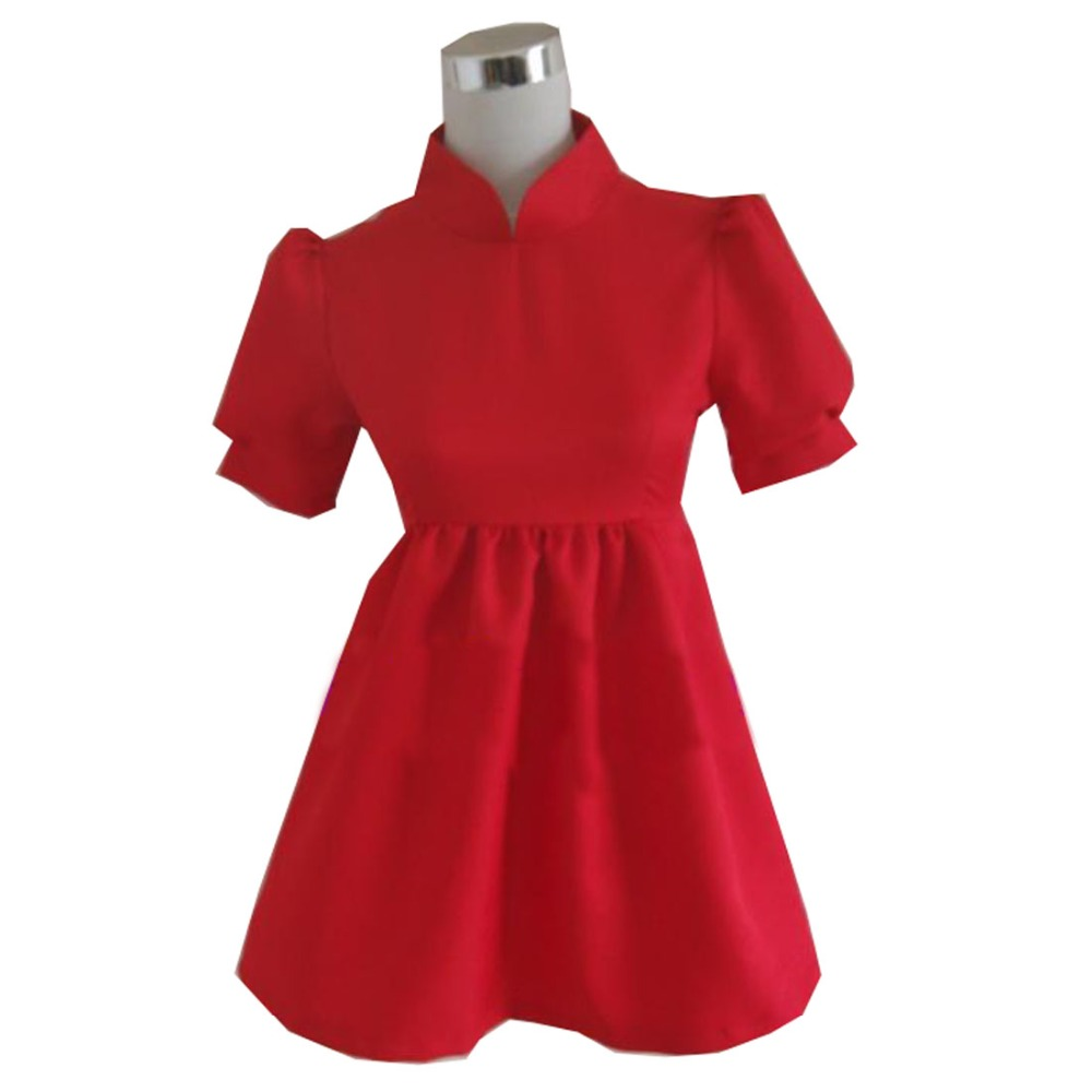 2019 Hayao Miyazaki Movie PONYO Cosplay Costume Lovely Halloween Red Dress Custom Made For Female and Kids image