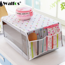 Waterproof Microwave Oven Covers With Two Side Pocket Dust Cover Hood Towel