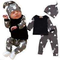 Deer Print Fashion Autumn Bebe Baby Boy Girl Clothing Suits Children Clothing Set Newborn Baby Clothes