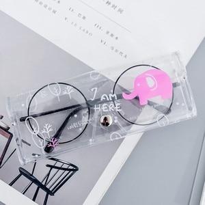 Image 5 - 1PCS Cartoon Cute Car Accessories Transparent PVC Eye Glasses Box Bag Case Protection Box Eyewear Accessoires for Adults Kids