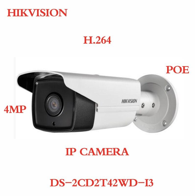 ANXIE Hikvision original binding DS-2CD2T42WD-I3 CCTV IP Camera 4MP PoE Upgrade EZVIZ IR 30M Day/night Waterproof Outdoor H.264 hikvision ezviz c3s poe