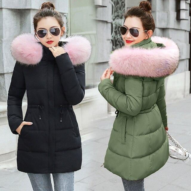 Warme Vrouwelijke Winterjas.Winterjas Vrouwen Dikke Warme Lange Down Parka Vrouwen Donsjack Jas