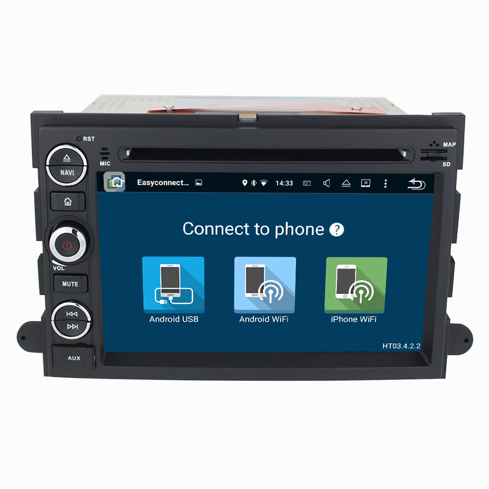 Android 7.1 Quad Core 2GB RAM 16GB ROM Car GPS stereo player for Ford Explorer/Edge/Expedition/Fusion/Freestyle/Mustang/F150/500