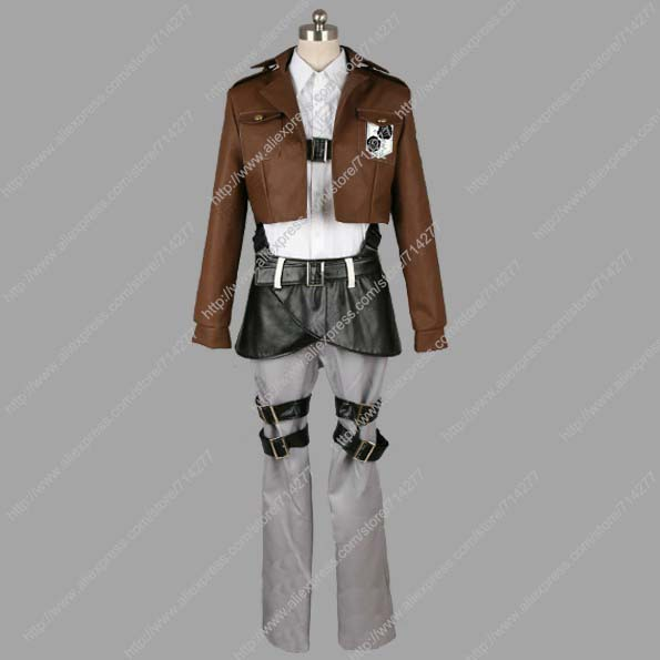 Free shipping Custom Cheap Cantonment Crops Cosplay costume from Attack on Titan