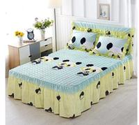 high quality 100% cotton bed sheets printed bed skirts mattress protective cover bed sheet bedspread twin full queen size