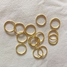 200 pcs / lot bra gold rings nickel and lead free  free shipping
