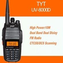 TYT TH-UV8000D Walkie Talkie VHF-UHF Dual Band/Standby 10W 128 CH Transceiver Portable Ham Radio 10 km TH-uv8000d Walky Talky