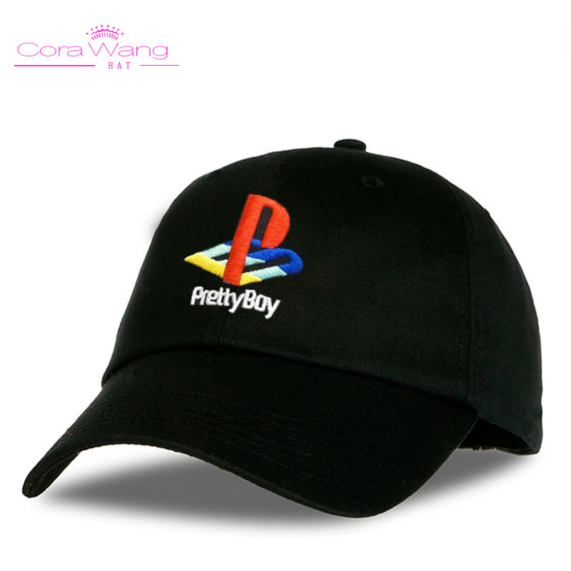 Cora Wang 2017 Pretty Boy Baseball Cap Playstation Hat Adjustable Snapback Strapback Dad Hat Men Women Hat Bones Masculino hot sale adjustable men women peaked hat hiphop adjustable strapback baseball cap black white pink one size 3 colors dm 6