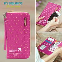 Square M Travel Documents Package Multi Function Passport Holder Change Card Bag Men And Women Passport