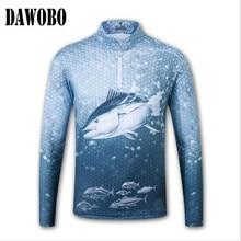 Новое поступление, Спортивная Мужская дышащая одежда для рыбалки, быстросохнущая анти-УФ 40+ антимоскитный стоячий воротник, женские рыболовные рубашки