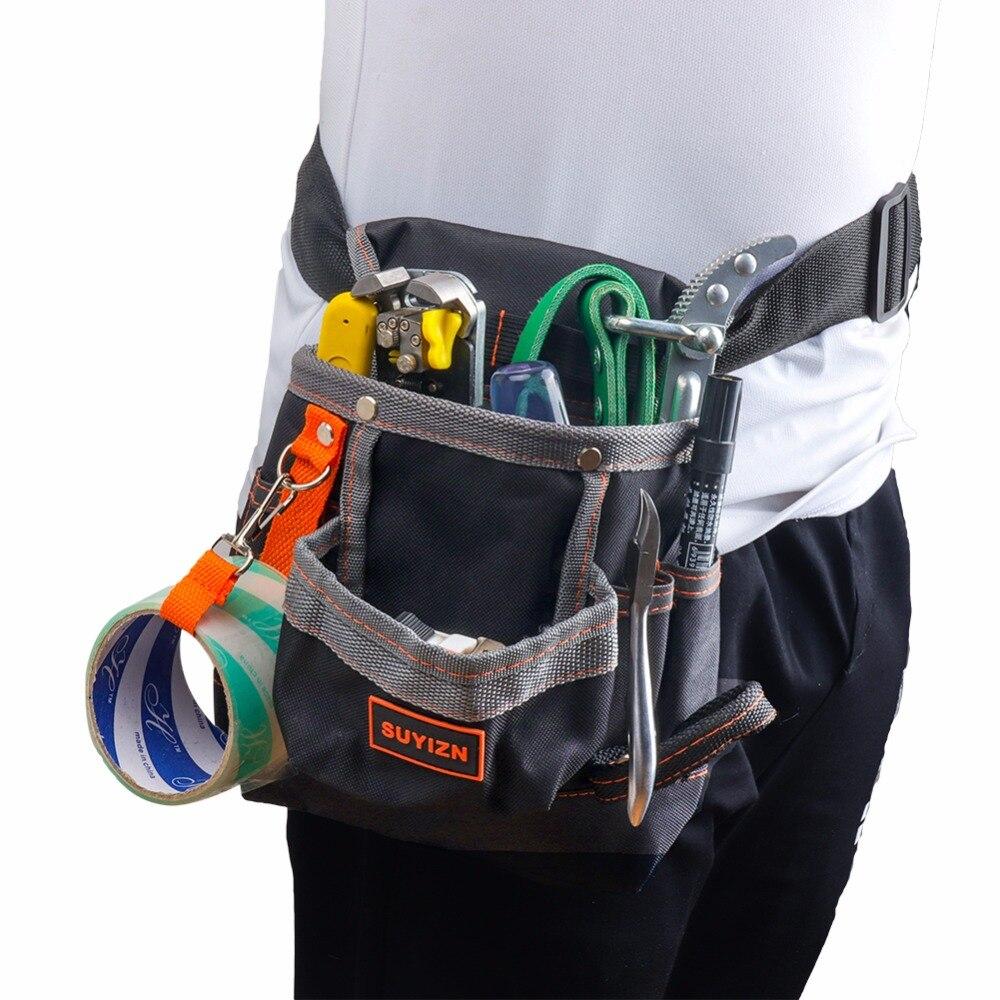 Bolsas de herramientas portátiles Oxford bolsa de electricista para  almacenamiento de herramientas 8 bolsillos herramientas de construcción  cinturón de ... e6c82dd8a3f4