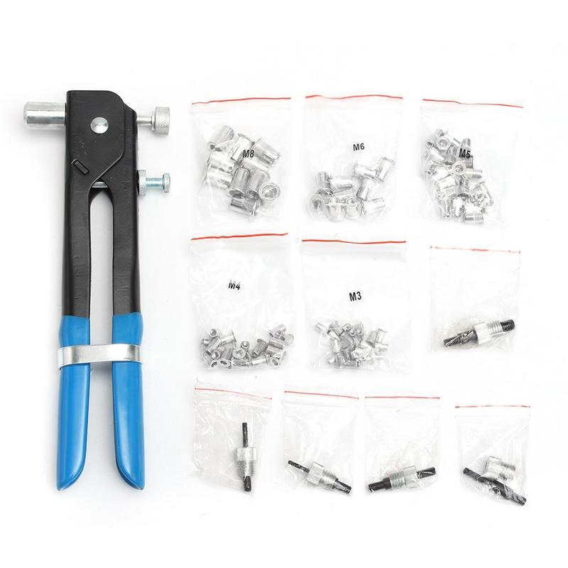 86PCS M3-M8 Nut Rivet Tools Household Manual Maintenance Tool Kit Stainless Steel Hexagon Nuts Metric Thread Suit For Screws