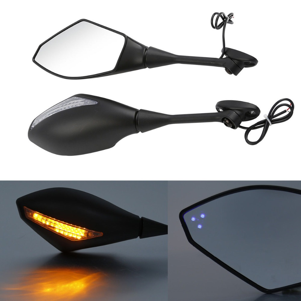 Motorcycle Rearview Mirrors LED Turn Signal For Honda CBR600RR CBR1000RR CBR250R CBR300R 2003-Later AccessoriesMotorcycle Rearview Mirrors LED Turn Signal For Honda CBR600RR CBR1000RR CBR250R CBR300R 2003-Later Accessories
