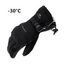 2017 New Brand Winter Men's Gloves Winter -30 Warm Gloves All-Weather Windproof Waterproof Gloves Free Shipping