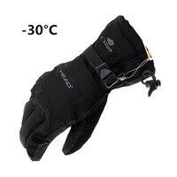 2018新しいブランド冬のメンズ手袋冬の30暖かい手袋すべての気象防風防水手袋