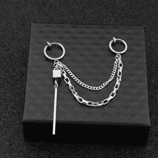 1pcs BTS J-Hope Square Shape Geometric Earrings Earcuff 5