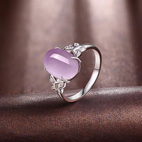2018 new 925 silver mosaic crystal ring Butterfly Silver Ring elegant fashion female jewelry ring ornaments