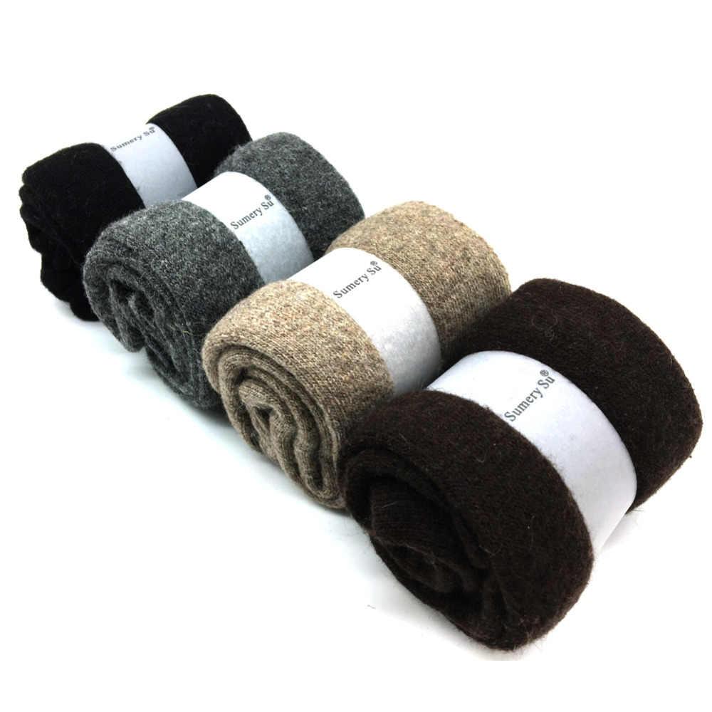 4 paren/doos Nieuwe Winter Dikke Wollen Sokken Mannen Merk Mode Kasjmier Ademende Sokken Meias Mannelijke 4 Kleuren 2018 Hot Koop