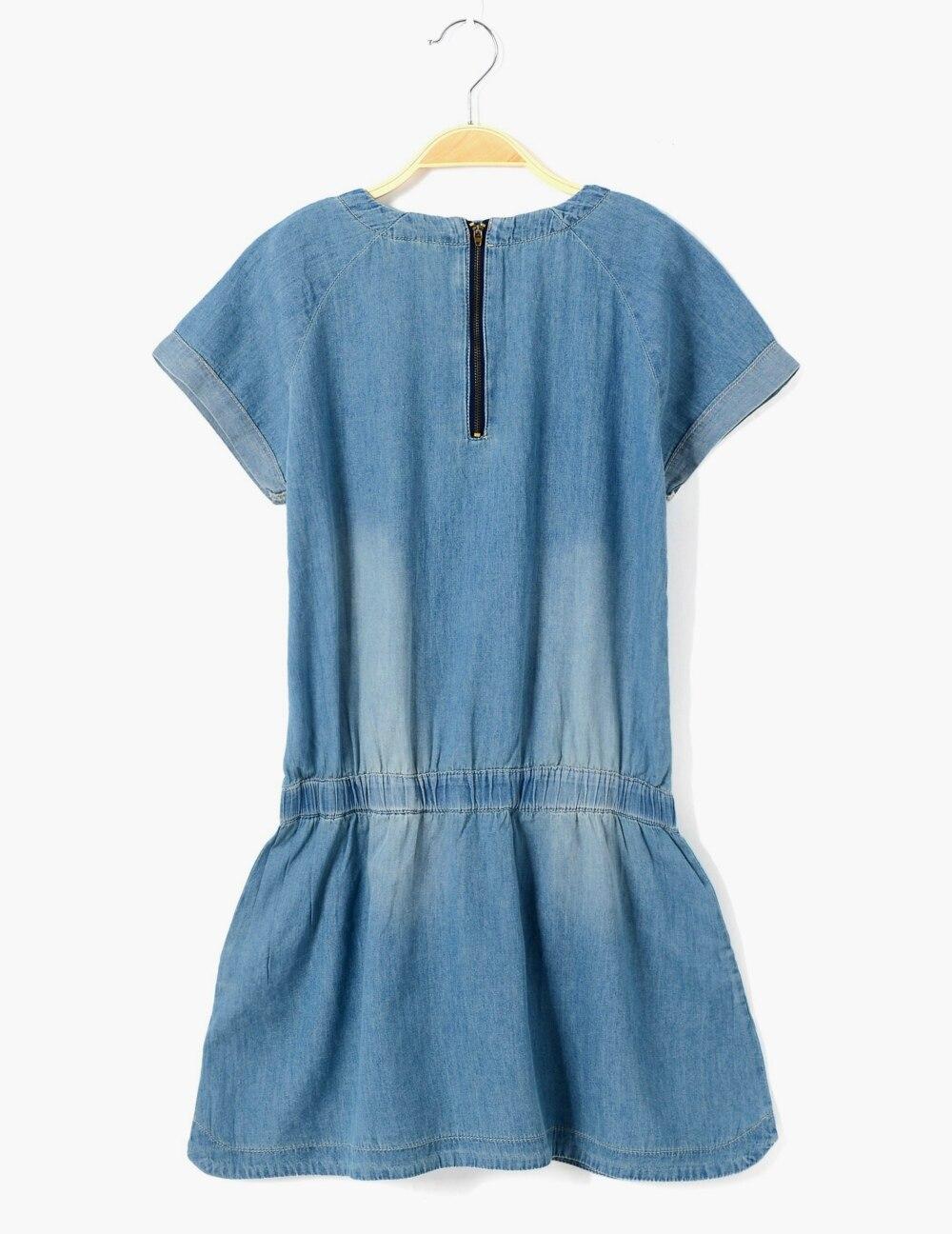 2016 Summer plus size girls denim overall dress pure color belt ...