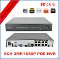 2015 NUEVA 3mp/1080 p Multi-idioma Plug & Play 8CH PoE NVR 8 canal de DVR para POE POE HD Ip con 8 Independiente PoE