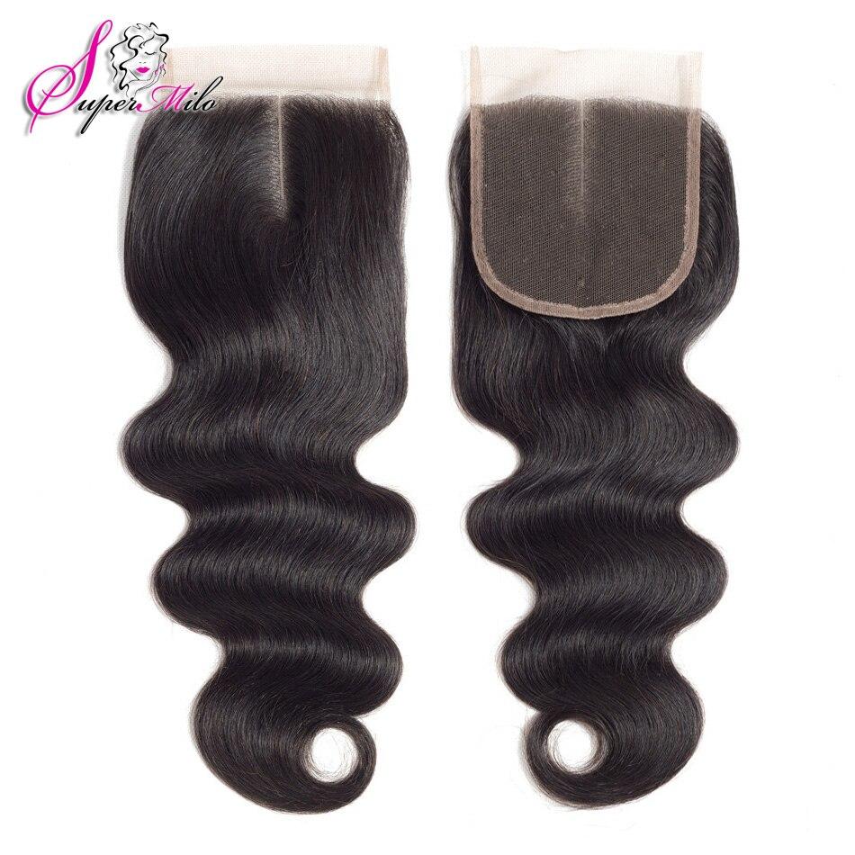 Супер мило волос 4X4 объемная волна кружева закрытия свободной части Малайзии натуральные волосы застежка натуральный Цвет 100% Волосы remy кру...