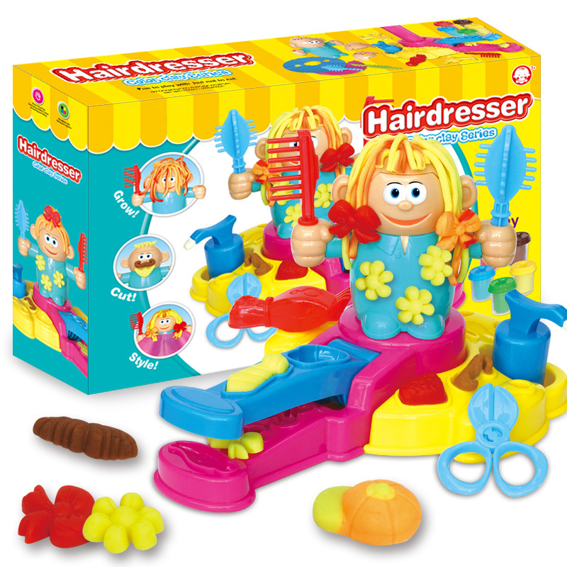 Kids Toy Hairstylist Clay DIY Toys For Children Modeling Clay Color Mud Dough Handmade Baby 3D Color Clay Play Educational Toy