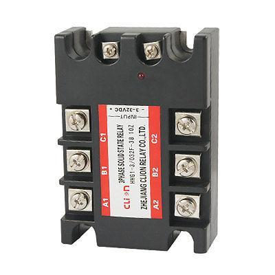 DC to AC Three 3 Phase Solid State Relay SSR 10A 3-32V DC 380V AC normally open single phase solid state relay ssr mgr 1 d48120 120a control dc ac 24 480v
