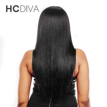 HCDIVA Hair Peruvian Straight Hair Weave Bundles 100% Human Hair Extensions Natural Color Can Be Dyed And Bleached Non Remy Hair