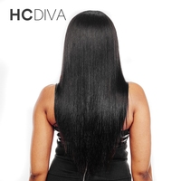 HCDIVA Hair Peruvian Straight Hair Weave Bundles 100 Human Hair Extensions Natural Color Can Be Dyed