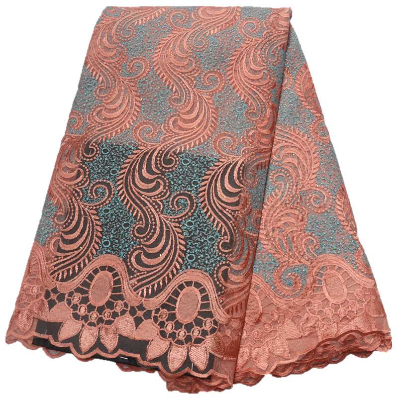 nigerian lace fabrics for wedding African French Tulle Lace fabric 2019 high quality african lace 5yards in Lace from Home Garden