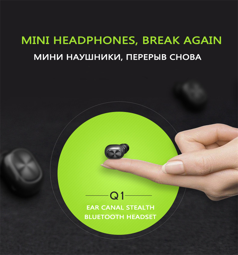 Q1 Q26 K8 mono small stereo earbuds hidden invisible earpiece micro mini wireless headset bluetooth earphone headphone for phone 1
