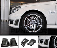 For Mercedes Benz C Class W204 C63 Carbon Fiber Side Air Fender Vent grille for C63 AMG 2012 2013 2014