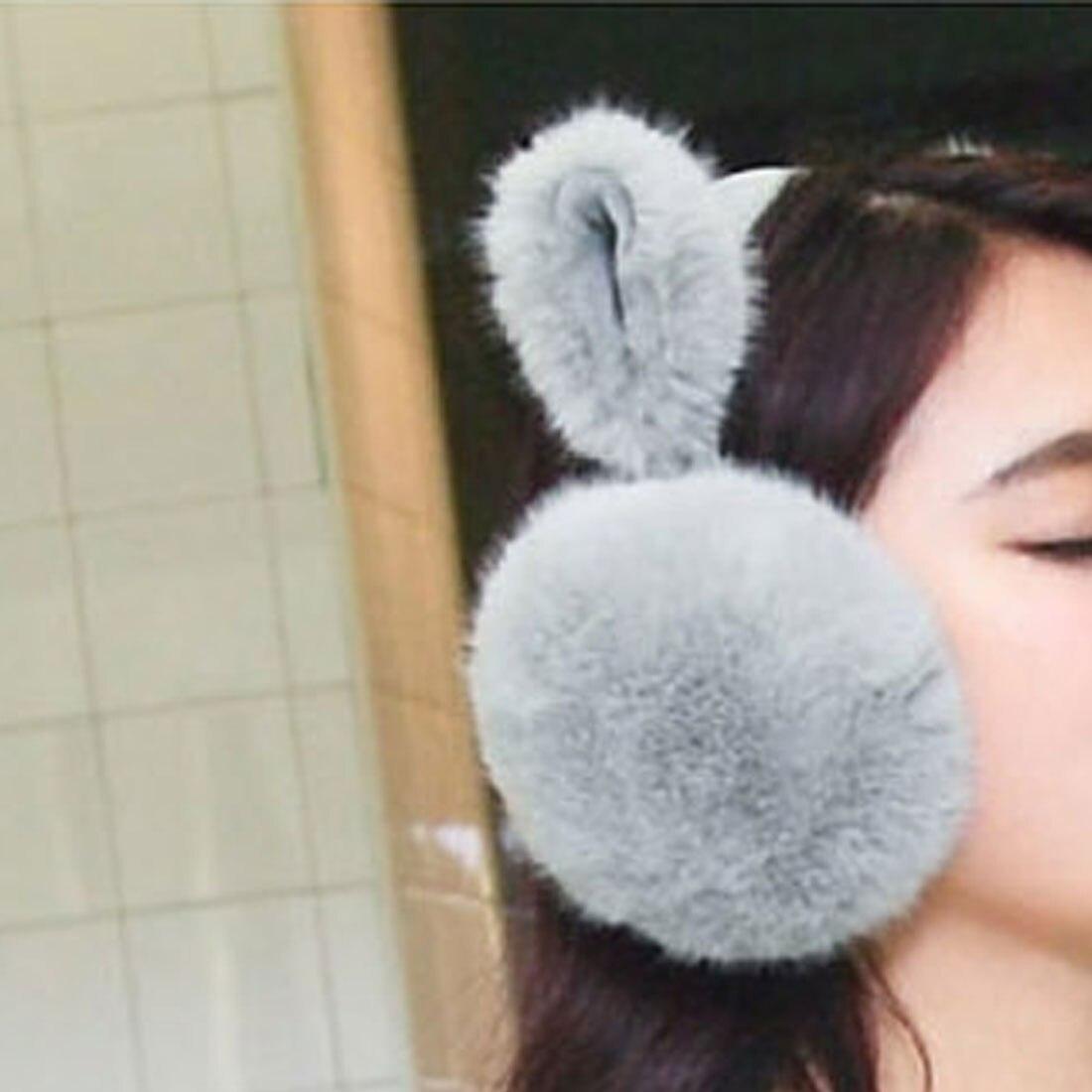 2017 Hot Winter Soft Rabbit Earmuffs For Women Warm Fur Ear Cover Winter Warm Ear Warmers Gifts For Girls Female