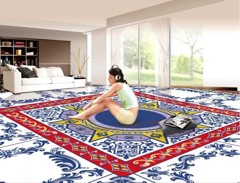 high quality 3d design floor pvc wallpaper 3d floor tiles self adhesive 3d floor murals papel de. Black Bedroom Furniture Sets. Home Design Ideas