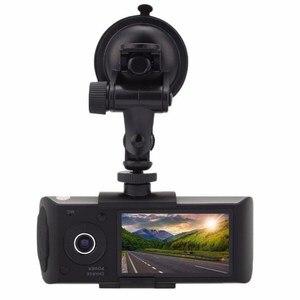 Image 2 - Kamera samochodowa pozycjonowanie GPS rejestrator jazdy HD 2.7 Cal ekran LCD kamera samochodowa lustro szerokokątny obiektyw mikrofon